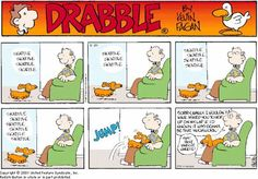 Wally of Drabble by Kevin Fagan- Dachshund, Wiener Dog Comics