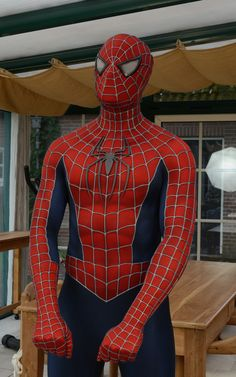 Raimi Spiderman, Spiderman 2002, The Amazing Spiderman 2, Spiderman Suits, Super Hero Outfits, Super Hero Costumes, Spider Man Trilogy, Hero Time, Iconic Characters