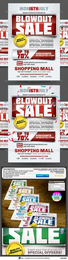 Blowout Sale Event Flyer