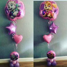 Paw patrol balloons #skye # everest EMOJI BALLOONS #BELLISSIMOBALLOONS #www.bellissimoballoons.co.uk #DebbiexNadineLewis #balloon