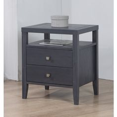 Shop for Aristo Burnt Grey 2-drawer Nightstand. Get free shipping at Overstock.com - Your Online Furniture Outlet Store! Get 5% in rewards with Club O!