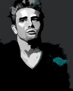 James Dean, Tinted Style | http://www.yourpainting.de/motive-artikel/james-dean