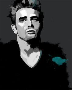 James Dean, Tinted Style | http://www.yourpainting.de/motive-artikel/james-dean