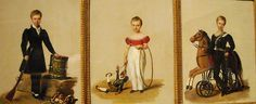 Portraits of the Duke de Penthievre, of the Duke de Montpensier, of the Duke d'Aumale (1828) by Alexandre Jean Dubois-Drahonet (Paris 1791-Versailles 1834) - Naples, Capodimonte Museum #TuscanyAgriturismoGiratola