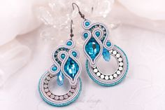 Circle silver metallic soutache earrings, handmade, soutache jewelry, gift for her, beaded earrings, turquoise Lace Earrings, Small Earrings, Turquoise Earrings, Crystal Earrings, Soutache Bracelet, Soutache Jewelry, Handmade Necklaces, Handmade Jewelry, Unique Jewelry