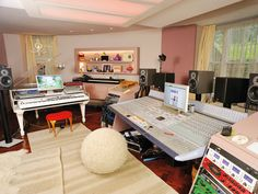 Imogen Heap's rather lovely set up, and yes it is in her home (although we haven't been round for tea yet).
