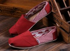 #Red Toms #Canvas Shoes #Womens #Stripe