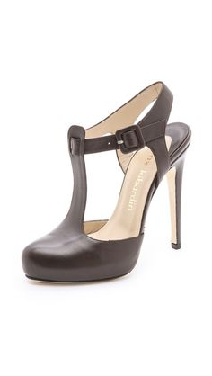 Max Kibardin Leda T Strap Heels ($710.00) I had sandals like this as a kid; minus the the heel. I wish they also came in other colors like yellow and red wine.