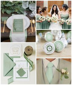 Shades of green have easily become one of our favorite color palettes for a fall wedding. It strays away from the expected orange, golden yellow, and red hues o