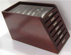 Amazon.com : Fancy Rosewood Collector Knife Display/Storage Cabinet Case, Solid Rosewood, KC03 : Sports & Outdoors