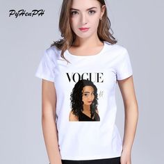 PyHenPH Vogue Punk Princess T-shirt for Women VOGUE Design Harajuku T Shirt White T-shirt Camisas short sleeve casual tees Tops