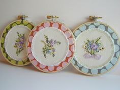 pretty ribbon embroidery hoops