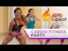 Cardio Fitness Party Workout: Burn to the Beat- Keaira LaShae. She has tons of GREAT vids on You tube!