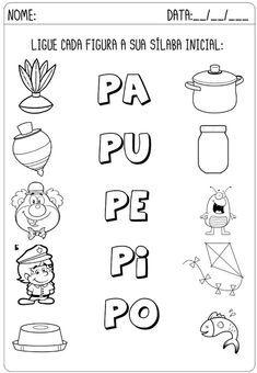 Criar Recriar Ensinar Preschool Writing, Preschool Learning Activities, Preschool Lessons, Spanish Lessons For Kids, Spanish Teaching Resources, Coloring Worksheets For Kindergarten, Alphabet Writing Practice, Fun Math, Homeschool