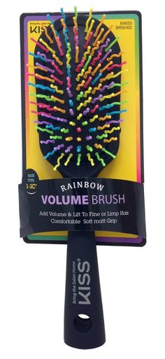 KISS Rainbow Brush Volumizer Detangler For All Hair Types -- Want additional info? Click on the image.