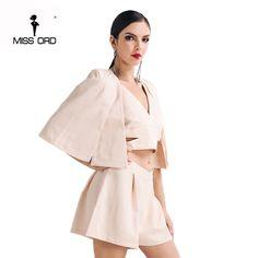 Missord 2017  Sexy v-neck  three-pcs styles playsuit  FT4619