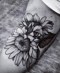 Картинки по запросу sunflower tattoo