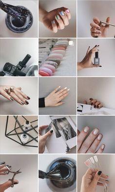 Instagram Feed Ideas Posts, Instagram Feed Layout, Feeds Instagram, Instagram Nails, Instagram Design, Logo Mano, Nail Polish Brush, Nail Picking, Nail Salon Design