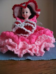 Valentine Lady Air Freshener Doll Crocheted in by PeggysPatch, $20.00