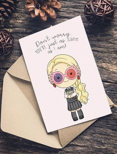 Happy Birthday Wiches LUNA Lovegood Harry Potter Carte De Voeux Joyeux Anniversaire