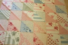 Cabbages and Roses fabric for Moda has been calling my name. (It's due to release in September,