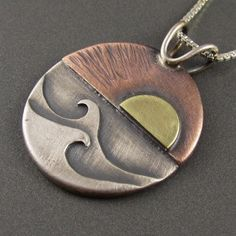 Red Sky at Morning Mixed Metal Pendant – Beth Millner Jewelry