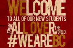 "Welcome back, students. The Heights haven't been the same without you! Information on ""Welcome Week"" can be found here: http://www.bc.edu/content/bc/offices/vpsa/welcome/events.html"