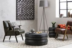 The Dan Leather Armchair in Pine Green has a vintage look and feel thanks to its retro design and smooth finish. Interior, Table, Living Room Style, Bold Wallpaper, Moroccan Inspiration, Leather Armchair, Armchair, Upholstery, Coffee Table