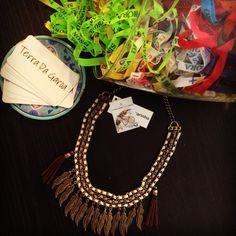 Uns dos colares que temos nessa nova coleção!!! ✌️☔️ #vempraterradagaroa #vistaessaenergia #terradagaroa #modadobem #modafeminina #acessório #colar #lookdodia #igfashion #fashionshop #sustentável #ecoera #ecolife #sãopaulo #brasil #verão16 #verano #summer #novidades #coleçãonova #estilo #meioambiente #natureza #sol #alegria #boho #preçobom #lançamento #sol #site #ecommercebrasil
