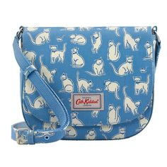Mono Cats Curved Saddle Bag | Cross Body Bags | CathKidston