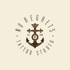 No Regrets - tattoo studio | Logo Design Gallery Inspiration | LogoMix #logoinspo