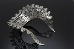 Standing Lace Torque - Sharon Helgans  2007  sterling silver