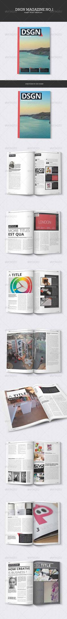 Graphicriver - DSGN Design Magazine No.1