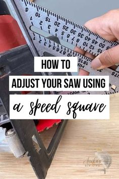 Learn how to adjust your saw and other beginner tips for using a speed square. Learn about all the features and uses! Beginner Woodworking Projects, Woodworking Plans, Speed Square, Wood Working For Beginners, Easy Diy, Learning, Tips, Wood Effect Worktops, Studying