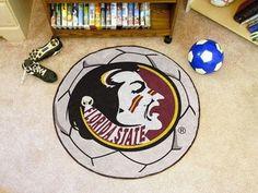 FSU Florida State University Soccer Ball Floor Rug Mat