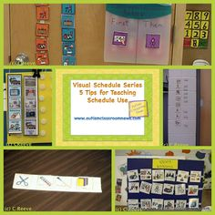 Visual Schedule Series: 5 Tips for Teaching the Schedule {Freebie!} by Autism Classroom News: http://www.autismclassroomnews.com