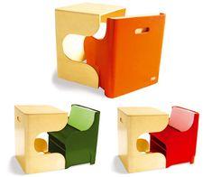 P'kolino's Klick Puzzle Chair: puzzle-szerű kialakítássalasztal+szék+tároló egyben