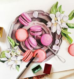 Food illustration Macarons