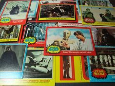 SALE -Vintage Lot of 1970s STAR WARS Movie Bubble Gum Cards w/Sticker -Topps Trading Cards -Star Wars,Empire Strikes Back,Return of the Jedi...