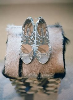 Bride to be wearing Monique Lhuillier shoes