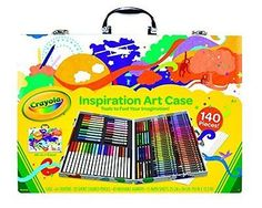 Crayola; Inspiration Art Case; Art Tools; 140 Pieces; Crayons; Colored Pencils;