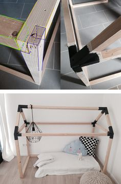 kinderbett haus selbst bauen diy deko upcycling f r zuhause pinterest kinderbett haus. Black Bedroom Furniture Sets. Home Design Ideas