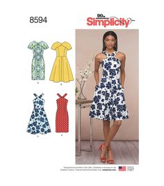 Sewing Pattern Misses' Flared Dress Pattern, Petite Dress Pattern, Sundress Pattern, Sheath Dress Pattern, Simplicity Sewing Pattern 8594 by on Etsy Patron Simplicity, Sundress Pattern, Easy Dress Pattern, Dress Making Patterns, New Look Dress Patterns, Summer Dress Patterns, Miss Dress, Simplicity Sewing Patterns, Pattern Sewing