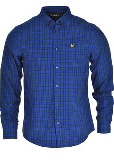 Lyle & Scott Check Long Sleeve Shirt in New Navy available to purchase online at www.mcelhinneys.com