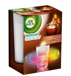 Airwickin väriävaihtava tuoksukynttilä  joku mieto-tuoksu(mm vanilja,mandariini?)