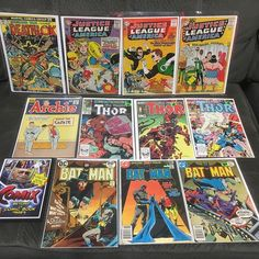 #BigAppleCon 1st day's haul. #Archie #Karate #Batman #Joker #1stAppearance #Deathlok #JusticeLeague #JusticeLeagueofAmerica #CrimeSyndicate #TheShadow #Thor #BetaRayBill #NewWarriors #Juggernaut #ComixTheMovie #comiccollecting #SilverAge #BronzeAge #TheJoker #TheShadowKnows #BigAppleComicCon #BACC