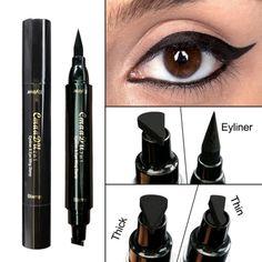 Eyeliner Objective New Sexy Waterproof Double Head Black Wing Shape Eyeliner Stamp Seal Eyeliner Pencil Cat Eye Cosmetic Makeup Tool Wing Style
