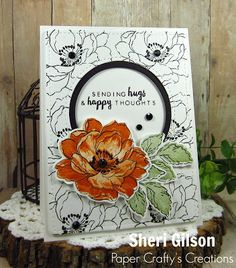 Sending Hugs by PaperCrafty - Cards and Paper Crafts at Splitcoaststampers Altenew Cards, Stampin Up Cards, Paint Cards, Beautiful Handmade Cards, Marianne Design, Get Well Cards, Cute Cards, Pretty Cards, Fall Cards