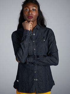 Denim Shirt, Chef Jackets, Shirts, Clothes, Tops, Women, Fashion, Outfits, Moda