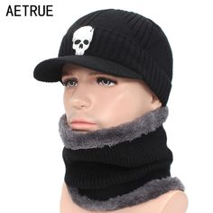AETRUE Skullies Beanies Hat Men Winter Hat Beanies For Men Women Wool Fur  Scarf Balaclava Mask Gorras Bonnet Knitted Hat Caps now available on  Affordable ... ffa8c5afd28f